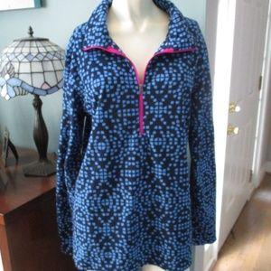 Columbia Blue Print Fleece Half Zip Top XL